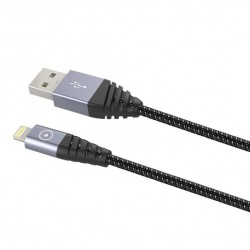 TIGER ULTRA RESISTANT CABLE LIGHTNING MFI 2M 2,4A GREY