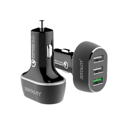 Car Charger Zentality 3 USB QC-02P silver